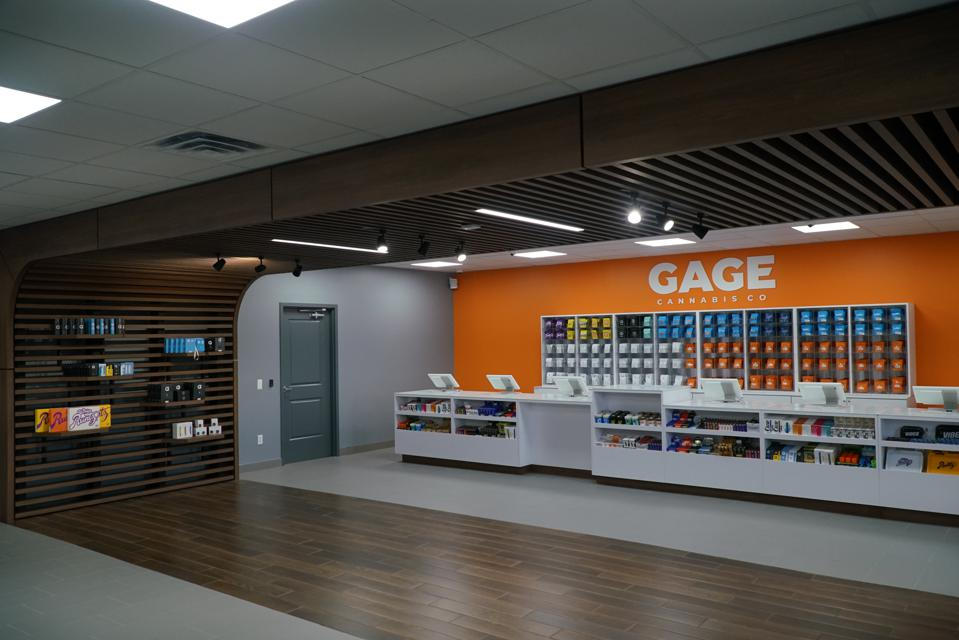 inside the lansing store of Gage Cannabis