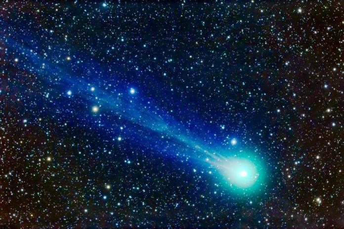 A telescopic close-up of the comet Lovejoy (C / 2014 Q2) from January 17, 2015.