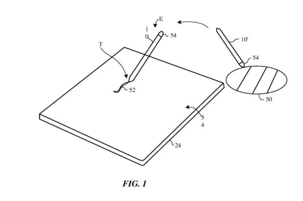 Apple's patent describes a pencil-like device capable of measuring colors in the real world and copying them to an electronic device.