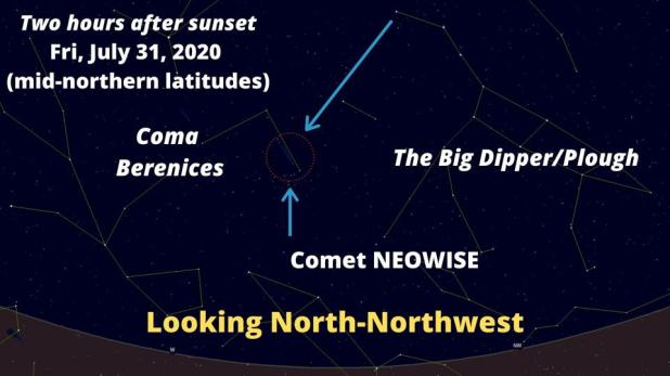 How to do a comet search on Friday, July 31, 2020
