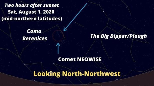 How to do a comet search on Saturday, August 1, 2020