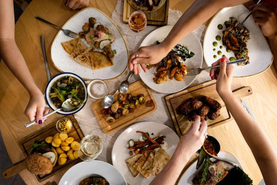 A selection of the Asian and western dishes served at Hawker Beach Club Ibiza restaurant.