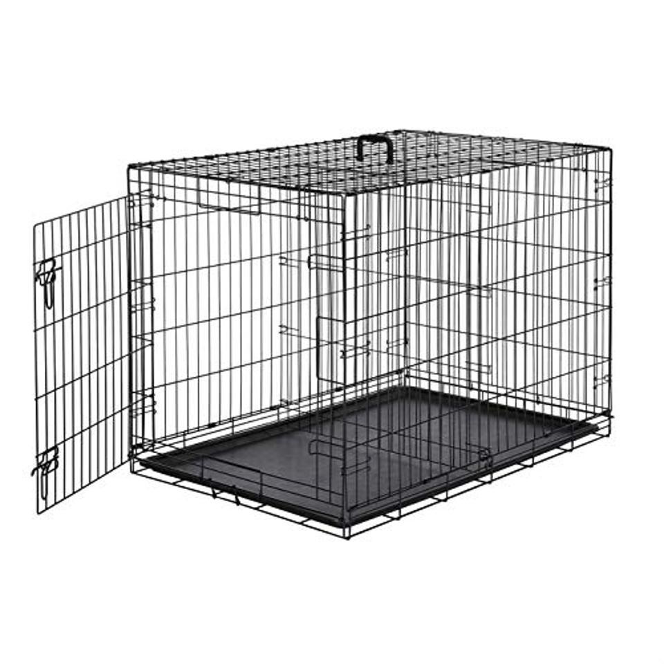 AmazonBasics Single Door Folding Metal Dog or Pet Crate