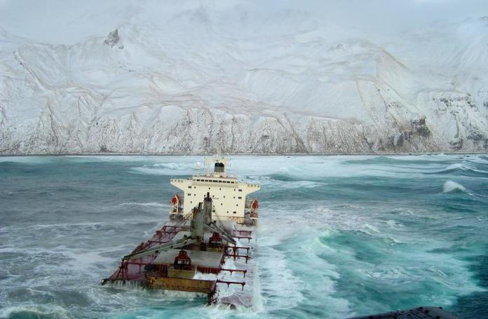 Harsh Weather Threatens Salvage Operation Of Cracked Freighter