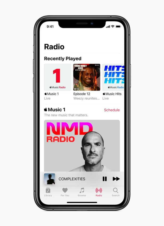 The new radio stations in the Music app on iPhone.