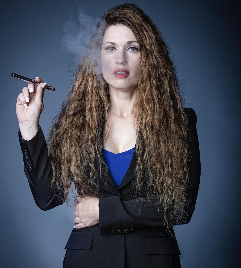 marisa having a smoke