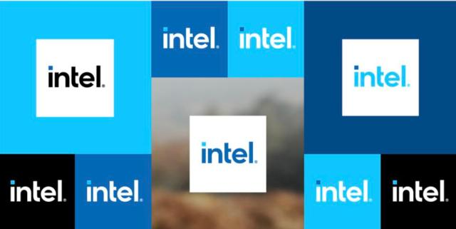 Intel new logos in different colors