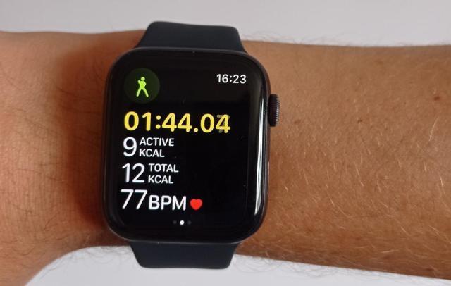 A photo of an Apple Watch.