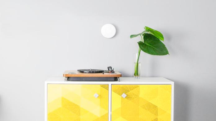 Radon monitor on wall.