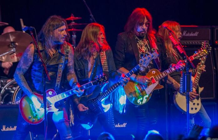 Original KISS guitarist Ace Frehley and band perform at Joe's Live. Friday, December 13, 2019 in Rosemont, IL (Photo by Barry Brecheisen)