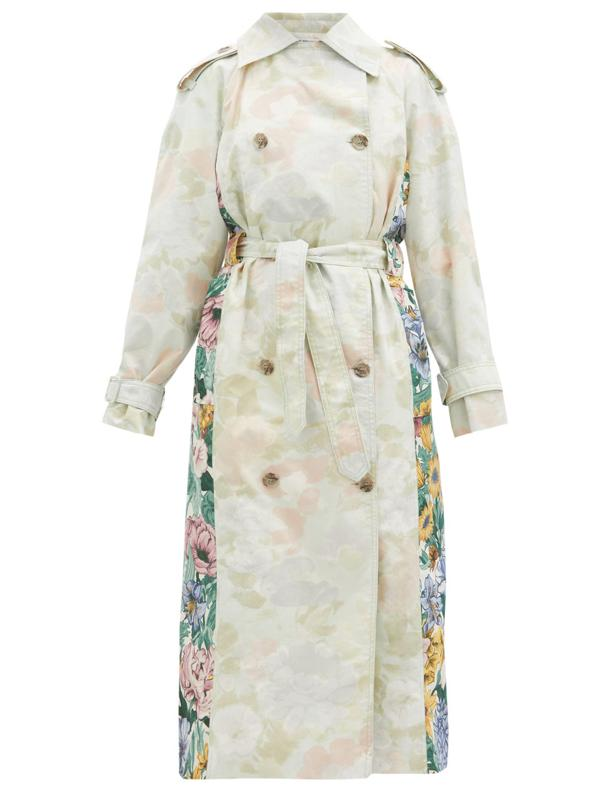 Rue Upcycled-Cotton Trench Coat by Rave Review