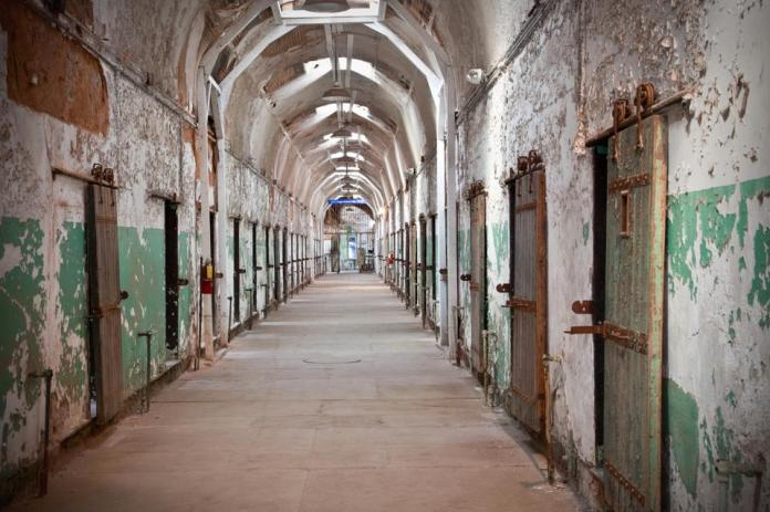 Prison Cell Block Corridor at Eastern State Penitentiary