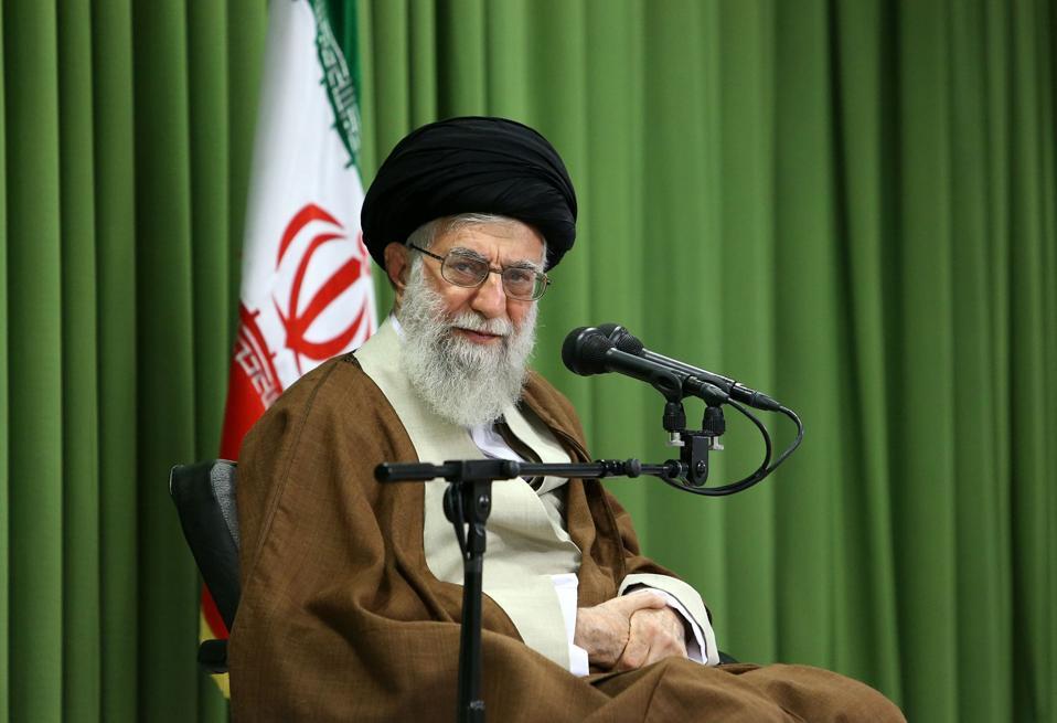 Iran's Supreme Leader Ayatollah Ali Khamanei meets students in Tehran