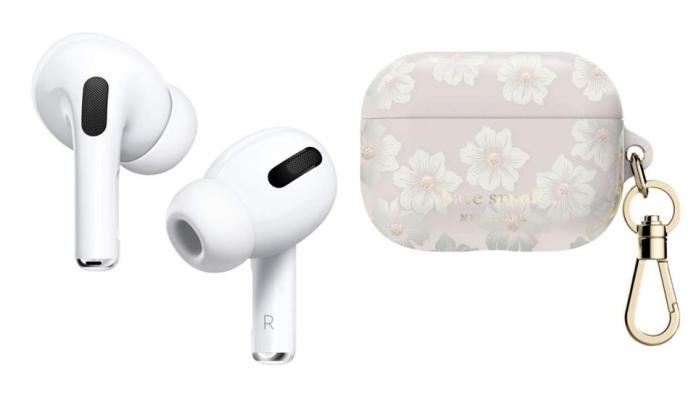 AirPods Pro - White and kate spade new york - AirPods Pro Case Hollyhoc