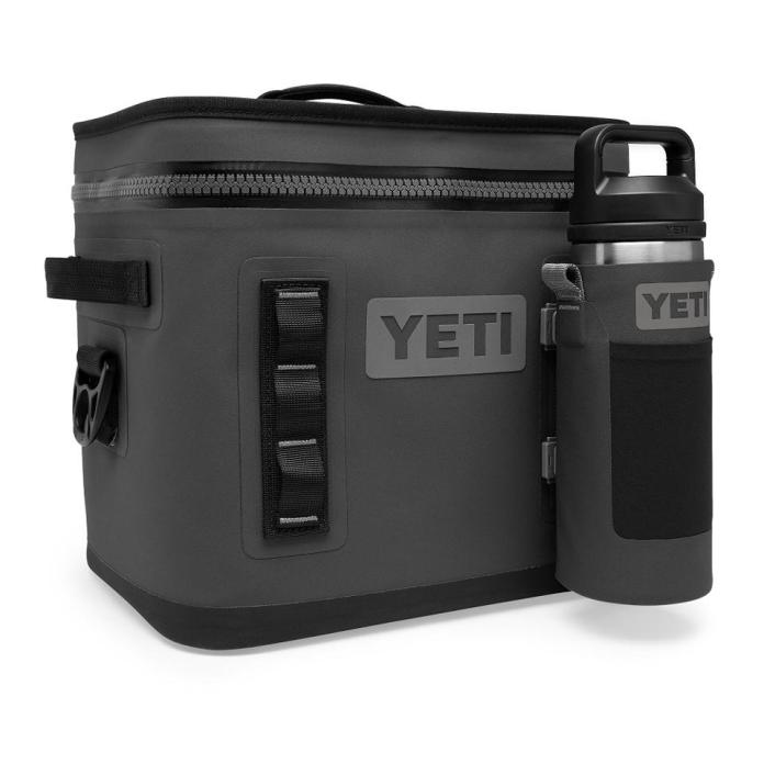 YETI cooler and bottle