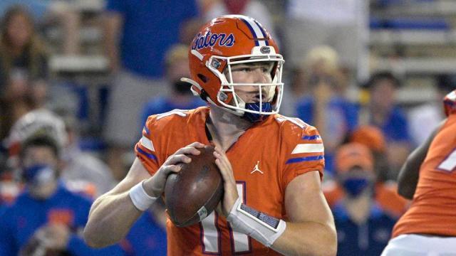 Florida Gators quarterback Kyle Trask against Arkansas on November 14. 2020.