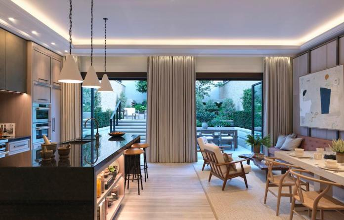 The interiors at 3 Mulberry, Chelsea Barracks, London luxury property