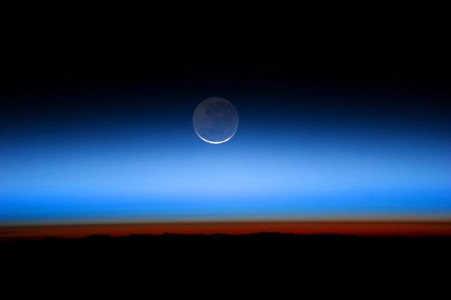 The Moon as seen from a view above the majority of Earth's atmosphere.
