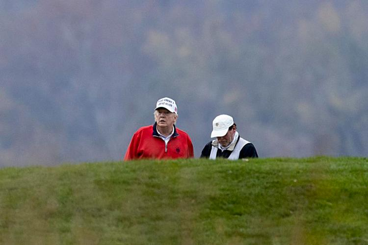 President Trump Returns To Trump National Golf Club