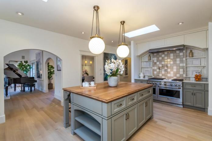 The kitchen in a Los Feliz home.