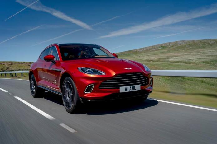 Aston Martin DBX, Aston Martin Residences, bold, luxury car, SUV sports car, hyper red