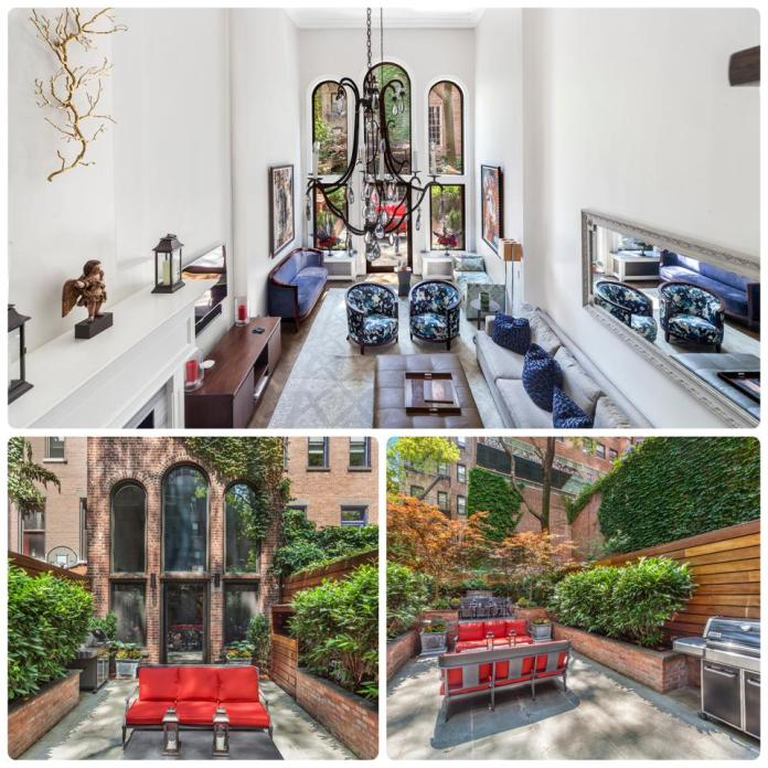 A collage of a townhome in Manhattan's Lenox Hill neighborhood.