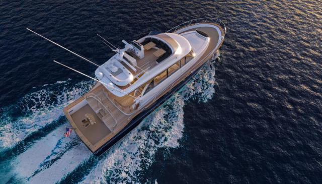 Burger's 62 Sport Fishing yacht concept on the seas