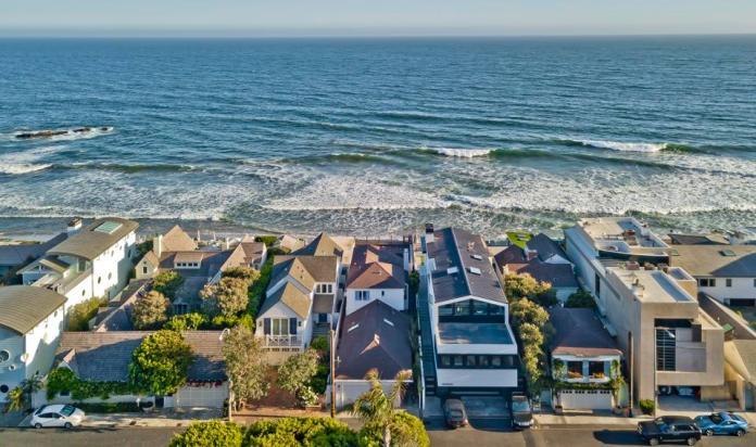 The Malibu Colony coastline.