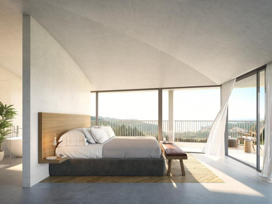 The rooms at the new Immerso hotel in Ericeira, Portugal, are modern and full of light.