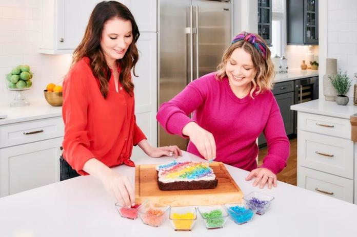 Clea Shearer and Joanna Teplin baking