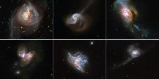 Feast Your Eyes on Hubble's Amazing Images of Colliding Galaxies and Rising Stars