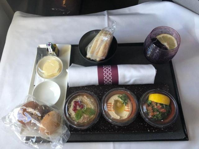 Qatar Airways mezze