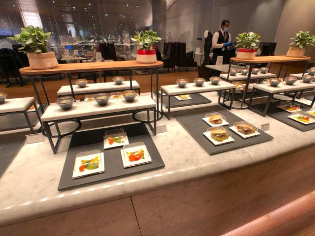Qatar Airways buffet