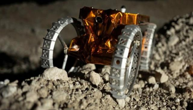 Mini rover on the moon