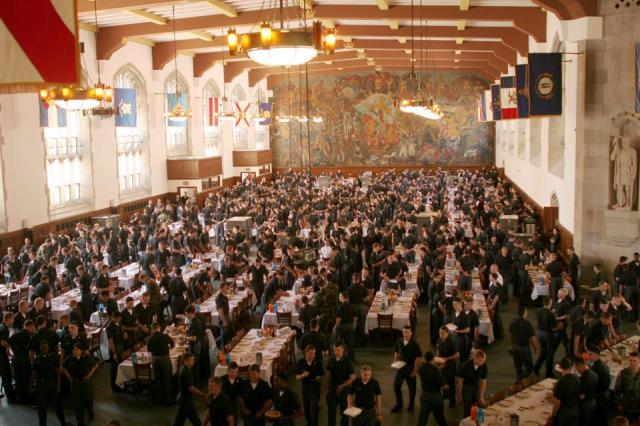 West Point Cadets in Mess Hall