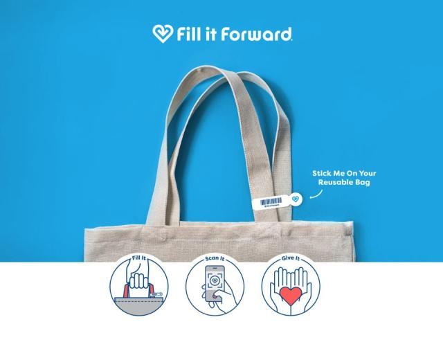 The Fill it Forward solution to single-use plastic bags
