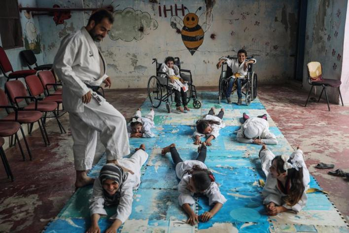 Sony World Photography Awards: a karate school for children in Syria