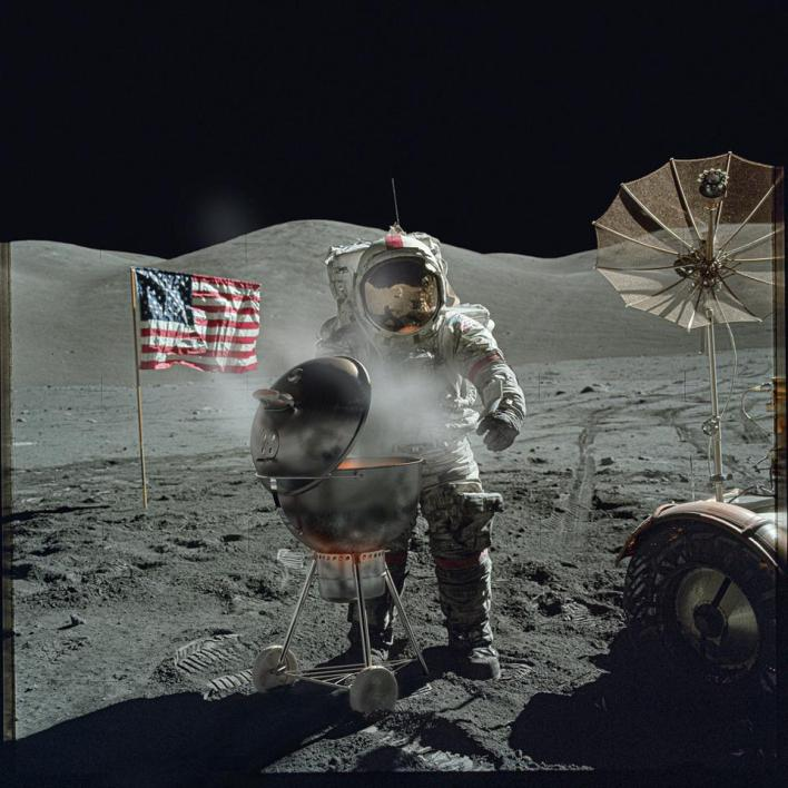 Sony World Photography Awards: and astronaut  having a BBQ in the moon