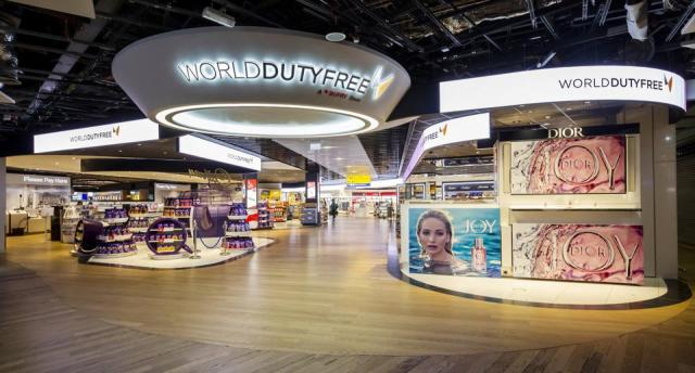 Dufry's World Duty Free store at London Heathrow Airport.