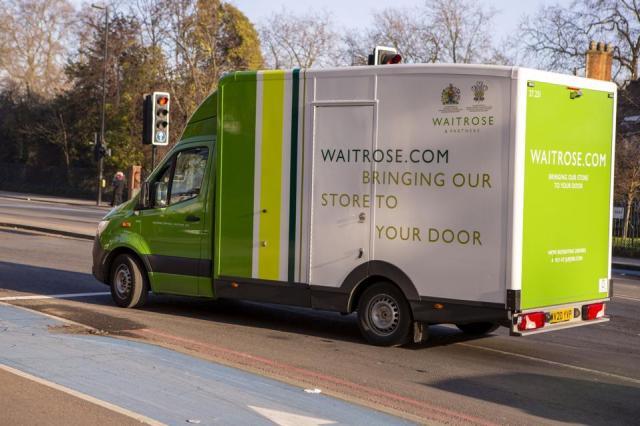 Waitrose delivery van