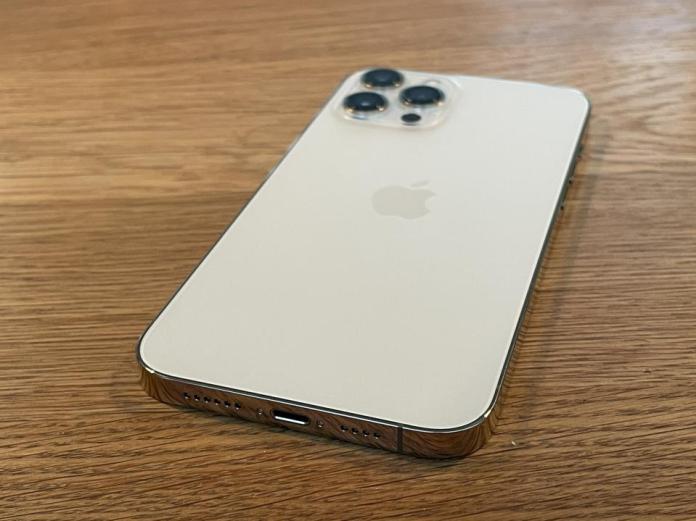 Apple iPhone 12 Pro in gold.