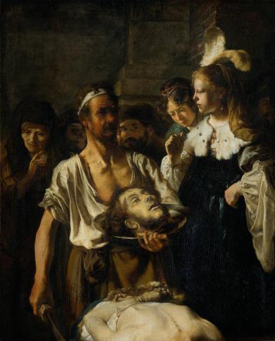 ″ La décapitation de Jean-Baptiste ″ de Rembrandt