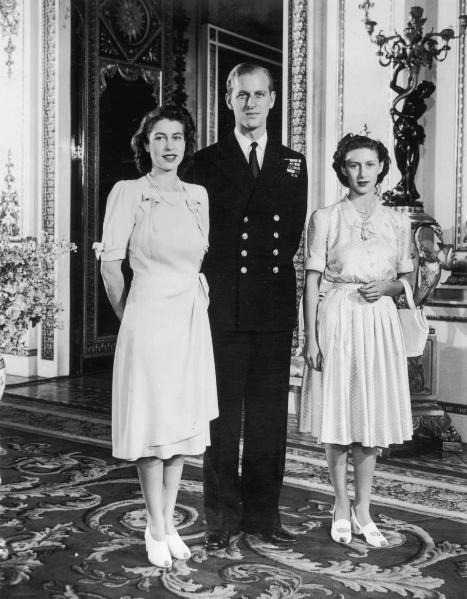 Princess Elizabeth with her fiance Lieutenant Philip Mountbatten 1947