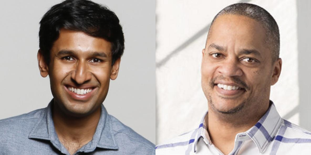 Nikhil Basu Trivedi (left) and Mike Smith have launched a new fund called Footwork.