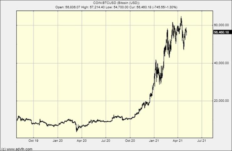 The bitcoin chart - there were two recent crashes