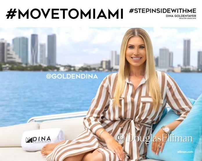 Miami downtown skyline Biscayne Bay Dina Goldentayer Douglas Elliman