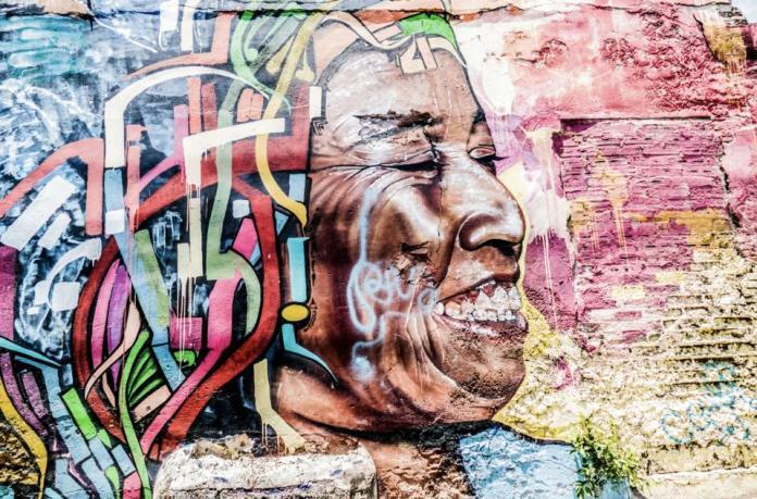 A mural in Colombia by Julian Lennon