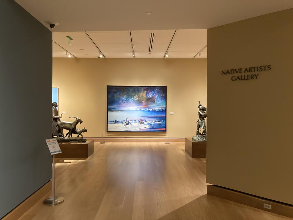 Entering the Native Artists gallery to Earl Biss 'Magic Thunder in the Northern Sky' at the James Museum of Western and Wildlife Art in St. Petersburg, Florida.