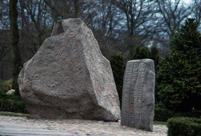 Runestones in Jelling, Denmark.