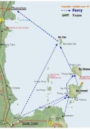 Trajet Bangkok Koh Samui bateau